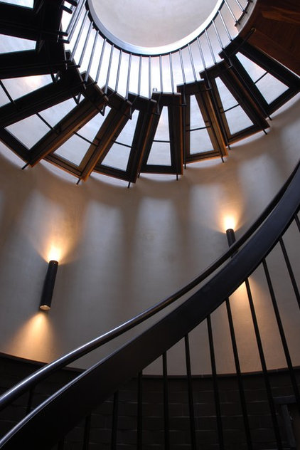 Contemporary Staircase by Nautilus Architects LLC