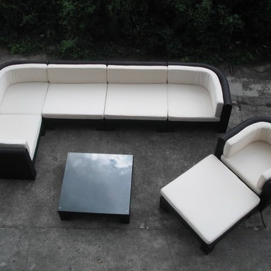 Modern Black and White Couch Sofa - It's a beautiful choice for those who appreciate the good live. Set includes single sofa, 3 corner sofas, 2 middle sofas, foot stool and coffee table.