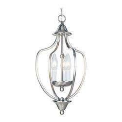 Livex Lighting - Livex Lighting-4170-Home Basics - Three Light Hall/Foyer - Bronze Finish with Glass