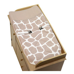 Sweet Jojo Designs - Giraffe Changing Pad Cover by Sweet Jojo Designs - The Giraffe Changing Pad Cover by Sweet Jojo Designs, along with the  bedding accessories.