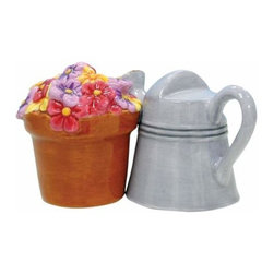 WL - 2 Inch Kitchenware Watering Can and Flowers Salt and Pepper Shakers - This gorgeous 2 Inch Kitchenware Watering Can and Flowers Salt and Pepper Shakers has the finest details and highest quality you will find anywhere! 2 Inch Kitchenware Watering Can and Flowers Salt and Pepper Shakers is truly remarkable.