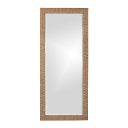 Howard Elliott - Sea Grass Tall Mirror - Our Sea Grass Mirror is framed in a stitched woven sea grass material. Sea Grass. Mirror Size: 26 in. x 68 in.. 32 in. x 74 in. x 1 in.