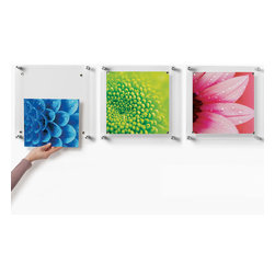Wexel Art - Trio Set of 3 Square Floating Wall Frames 14x14 - You don't have to hang your collection of Cubist paintings in these fantastic wall frames. Your child's finger-paint projects or your photography can be some of the masterpieces you show instead. Picasso would be just as proud.