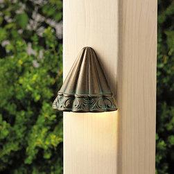 Kichler Lighting - Kichler Lighting 15021VGB Ainsley Square 1 Light Deck/Step Lighting in Verdigris - Deck 1-Lt 12V