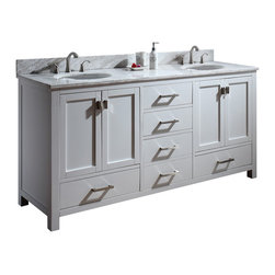 "72"" Toscana Double Sink Vanity - White -"