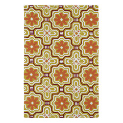 "Kaleen - Kaleen Matira MAT02 (Tangerine) 5' x 7'6"" Rug - Matira is inspired from the absolutely beautiful and breathtaking secluded beaches of Bora Bora. White powdery sand, crystal clear blue waters, and the lush botanical surroundings embrace every aspect of this collection. Each rug is UV protected and handmade with 100% Polypropylene. Complete with our special ""K-Stop Non-Skid Backing"", Matira will be your perfect anchor to a magical getaway."