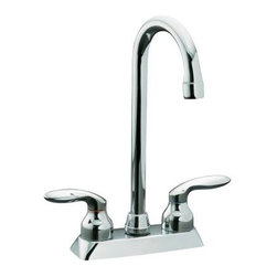 KOHLER - KOHLER K-15275-4-CP Coralais Bar/Prep/Entertainment Sink Faucet with Lever Handl - KOHLER K-15275-4-CP Coralais Bar/Prep/Entertainment Sink Faucet with Lever Handles