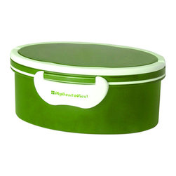Genmert - Mulberry Oval Bento Box with Handle, Lime - Keeping your food contained stylishly may just prove to be an appetizing endeavor with these contemporary lunch boxes. Days of flimsy containers are long gone - you'll have fun presenting meals in the Mulberry Oval Bento Box, with its attractive colors, lock-on lid and convenient handles for easy transport. Non-toxic, BPA-free, dishwasher and microwave-safe for worry-free food storage.