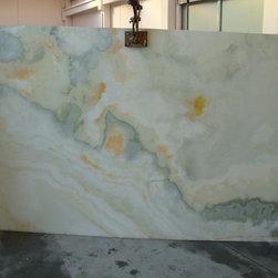 Royal Stone & Tile Slab Yard in Los Angeles - White Onyx Slabs at Royal Stone & Tile in Los Angeles