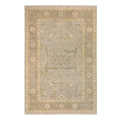 """Surya - Traditional Ainsley Sample 1'6""""x1'6"""" Sample Cream-Beige  Area Rug - The Ainsley area rug Collection offers an affordable assortment of Traditional stylings. Ainsley features a blend of natural Cream-Beige  color. Hand Knotted of 100% New Zealand Wool the Ainsley Collection is an intriguing compliment to any decor."""