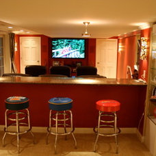 Traditional Home Theater by Remodeling and Painting Experts Inc.