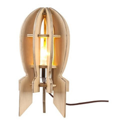 ParrotUncle - Unique Design Wood Rocket Bedroom Table Lamp - Unique Design Wood Rocket Bedroom Table Lamp