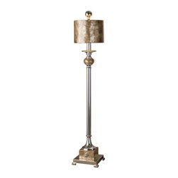 Uttermost - Uttermost 29872-1 Pearl Contemporary Single Light Buffet Lamp - Uttermost 29872-1 Carolyn Kinder Pearl Buffet LampThis lamp is silver plated metal with roasted, Mother of Pearl accents and a matching round shade.Features: