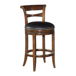 EuroLux Home - New Armless Swivel Barstool Bar Stool Waxed - Product Details