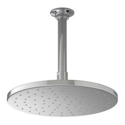 "Kohler - Kohler K-13690-CP Polished Chrome Rainhead 12"" Rainhead Round - 12"" Contemporary Round Rain Showerhead The new KOHLER Rainhead collection delivers the most comprehensive offering of rain showerheads available in the market today, providing an affordable and scalable showering solution that coordinates designs and finishes with the rest of the KOHLER faucets and accessories.  Low profile design creates a striking contemporary centerpiece in any custom shower installation Superior spray performance with Katalyst Spray Technology™ delivers a luxurious and drenching  rain  experience Optimized sprayface design creates a denser uniform spray pattern for consistent coverage and feeling of warmth MasterClean™ sprayface with translucent nozzles resists mineral buildup and ensures reliable performance for years to come 2.5 gallons per minute flow rate Solid brass construction ensures durability and reliability Comprehensive Finish Offering compliments KOHLER s complete faucet and accessory program"