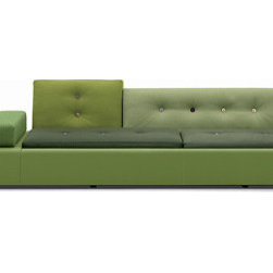 Polder Sofa by Vitra - This sofa keeps a low profile. Playing with the usual parts components of the sofa and reassembling them, it turns a typical piece of furniture into a conversation piece. And you can have that conversation while you are sitting on it.
