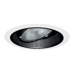 Juno Lighting Group - Adjustable Gimble Ring for 5-Inch Recessed Housing - 688B-WH - This 5-inch gimble ring has a 30 degree vertical adjustment and can rotate 358 degrees. Perfect for highlighting art, wall washing, or as an indirect light source. The inner white baffle surrounds the recessed bulb, reducing glare. Springs are included to hold it in place. Takes (1) 50-watt halogen PAR30 bulb(s). Bulb(s) sold separately. Dry location rated.
