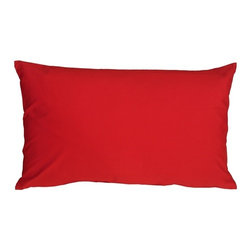 Pillow Decor - Pillow Decor - Caravan Cotton Red 12 x 19 Throw Pillow - Bold and beautiful, the Caravan Cotton 12 x 20 Throw Pillows are the ideal pillows for adding a simple splash of color to your decor. With 3% spandex added to improve durability and wash ability, this soft cotton pillow will provide long lasting comfort.
