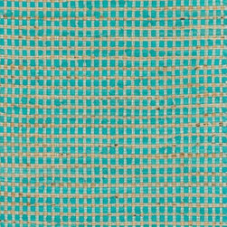 "Loloi Rugs - Loloi Rugs Porto Collection - Turquoise, 1'-8"" x 3' - Casual yet sophisticated pops of color combined with natural jute are entwined into a grid-like pattern in Porto. These handwoven rugs from India are infused with cotton for softness underfoot.  The clean yet intricate pattern will add just the right layers of texture and pattern without competing with the rest of your room's interior."