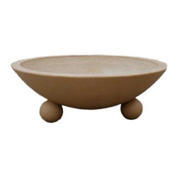 """32"""" Biltmore Concrete Fire & Water Bowls by Grand Effects - -Fire & Water Bowl Simultaneous System"""