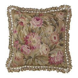 EuroLux Home - New Aubusson Throw Pillow Handwoven Wool - Product Details