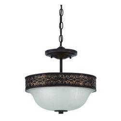 Jeremiah Lighting - Jeremiah Lighting 36352 Amsden 2 Light Semi-Flush Ceiling Fixture - Lamping Technology: