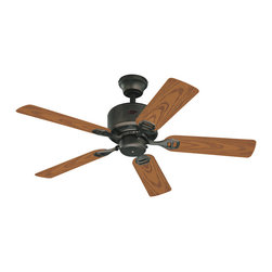 """Westinghouse Lighting - Westinghouse 7234500 Bayside 44"""" Indoor/Outdoor Ceiling Fan - Designed especially for patios, verandas, and gazebos, the Westinghouse Bayside 44-inch ceiling fan brings indoor comfort outdoors. The Bayside features a 153-millimeter by 12-millimeter silicon steel motor with a triple capacitor for powerful, quiet air circulation. Three fan speeds (high/medium/low) and a reversible switch keep you cool in the summer and warm in the winter. Indoor/outdoor ceiling fan is wet location approved. Includes a 3/4-inch by 4-inch (D x L) down rod and 78-inch lead wire. Remote control adaptable."""