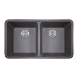 MR Direct - MR Direct 802 Trugranite Double Equal Bowl, Silver - Our Granite sinks come in four beautiful colors to match any countertop; black, white, mocha, beige and silver. Our Granite line is made with 80% Quartzite and 20% Acrylic. They also have silver ions in the sink which kills 99% of bacteria on contact. Granite sinks are the most durable option for a kitchen sinks. They are extremely scratch resistant, can withstand heat up to 550 Degrees and are unaffected by household acids and cleaners. The granite is also completely stain resistant. The acrylic acts as a natural sound dampener making the sinks very quiet. Our Granite sinks are covered by a limited lifetime warranty. Each sink come with a cardboard cutout template and mounting hardware.
