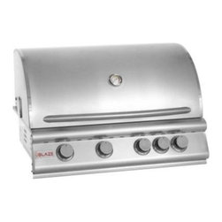 "Blaze Outdoor - 32"" 4-Burner Blaze NG Grill with Rear Burner - 4 commercial quality 304 cast stainless steel burners"