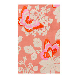 Surya - Surya Abigail ABI-9003 (Carnation, Ivory) 8' x 11' Rug - Lively, energetic coloring pops against a bold backdrop, fashioning a look that will offer the perfect addition to your home decor.