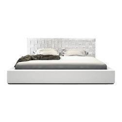 Modloft - Modloft Madison Bed in White Leather-Queen - Mod loft - Beds - MD335QWHT