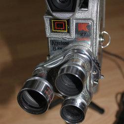 Vintage Webcams - Vintage Keystone 8mm movie camera – converted into a HD 720p Webcam
