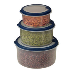 6-piece Plastic Container Set with Round Lids
