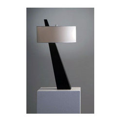 Nova Lighting - Nova Lighting 11889 31 Inch Transitional Table Lamp with White Linen Shade from - 31 Inch Transitional Table Lamp with White Linen Shade from the Obelisk CollectionFeatures:
