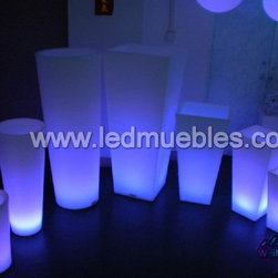 Led Lighting Flower Pot - 1. Waterproof,PE material