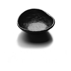 Elite Global Solutions - Black Zen 7 oz. 5 1/8 Diax 1 3/4 H Irregular Edge Round Bowl - Case of 6 - Get on the path to enlightenment. The shapes and textures of the Zen collection reflect the beauty of natures bounty