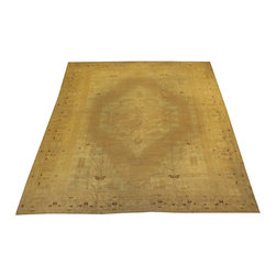 """Consigned Vintage Amritzar, 14'8"""" x 12'9"""" - Wool pile hand made very fine consigned vintage Amritzar carpet with age related wear. Approximately 80-90 years old."""