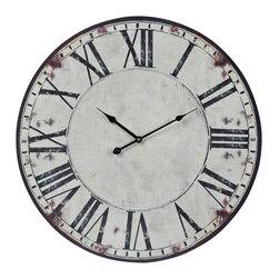 Roman Numeral Printed Round Wall Clock - *Dimensions: 1L x 24W x 23.6H