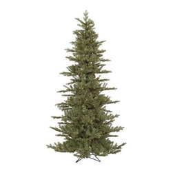 Vickerman Slim Austrian Pre-Lit Christmas Tree - Light up your home this holiday season with the beautiful Vickerman Slim Austrian Pre-Lit Christmas Tree. Beautifully designed with a slim shape that's perfect for small rooms but doesn't lack fullness, this tree comes in your choice of size. Specifications for 7.5-Foot Tree Shape: Full Base Width: 50 inches Number of Bulbs: 500 Number of Tips: 1300 Specifications for 8.5-Foot Tree Shape: Full Base Width: 52 inches Number of Bulbs: 750 Number of Tips: 1638 Specifications for 10-Foot Tree Shape: Full Base Width: 58 inches Number of Bulbs: 1100 Number of Tips: 2154 Don't Forget to Fluff!Simply start at the top and work in a spiral motion down the tree. For best results, you'll want to start from the inside and work out, making sure to touch every branch, positioning them up and down in a variety of ways, checking for any open spaces as you go.As you work your way down, the spiral motion will ensure that you won't have any gaps. And by touching every branch you'll make the desired full, natural look. About VickermanThis product is proudly made by Vickerman; a leader in high quality holiday decor. Founded in 1940; the Vickerman Company has established itself as an innovative company dedicated to exceeding the expectations of their customers. With a wide variety of remarkably realistic looking foliage; greenery and beautiful trees; Vickerman is a name you can trust for helping you make beloved holiday memories year after year.