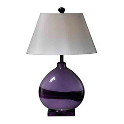 Dimond Lighting - Dimond Lighting D1718 Lavender Quartz Purple Table Lamp - Lavender Quartz Table Lamp in Lavender Quartz with Oval Cream Faux Silk Shade with Hint of Pink Fabric Liner will be a standout addition to your space. Its unique color and artistically made lavender quartz finish will be an eye-catching piece in your home.