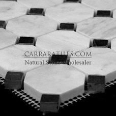 Carrara Marble Italian White Bianco Carrera Octagon Mosaic Tile Polished