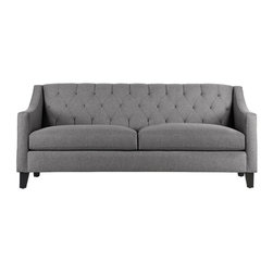 "Apt2B - The Jackson Apt. Size Sofa, Tweed, 53"" X 36"" X 32"" - The Jackson brings some much needed romance into any space. The rolled back with detailed tufting and swoop arms gives really interesting lines to a boxy room and can be that star every home needs."