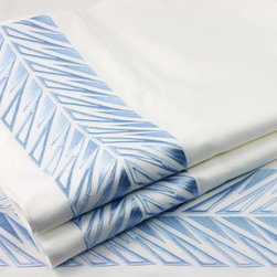 """Sicily Embroidered Sheet Set - We all know the old saying """"a little goes a long way,"""" and these embroidered sheets fit the bill. They are just enough to make a statement."""