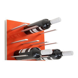 STACT - STACT Wine Racks, Electric Orange, 4 Pack, Modular - *Includes four STACT wine storage panels with mounting hardware* Transform your wine collection into wall art, with an elegant modular wine wall that expands and adapts to fit your unique space. Mix and match the space-saving STACT wine storage panels to create your own unique design, available in a variety of premium finishes. STACT is modular, flexible, sleek, and attractive. It's the perfect way to enhance your space, celebrating your wine collection. Fits any space or decor; Easy to assemble & install onto any drywall surface (studs not required); Includes mounting hardware; Suitable for home or commercial use.