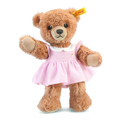 Steiff - Steiff Pink Sleep Well Teddy Bear - Steiff Pink Sleep Well Teddy Bear is made of plush for baby-soft skin. Machine washable. Handcrafted by Steiff of Germany.