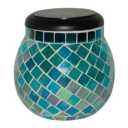 Smart Solar - Smart Solar Outdoor Lighting. Azure Glass Mosaic Solar T-Light - Shop for Lighting & Fans at The Home Depot. Smart Solar Azure Glass Mosaic Solar T-Light creates a pleasing lighting effect on any surface due to the mosaic inlaid glass, forming a beautiful lighting effect when lit. Housed within the black top of the globe is a solar panel, it uses sunlight to charge the included AA NiMh battery. The integrated photo cell at the top of the unit automatically illuminates the light at dusk until the battery power has been exhausted. In winter or during prolonged periods of dull weather the globe can continue to used by removing the solar light and placing a standard tea light or candle within.