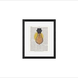 """Zlatka Paneva Framed Print, Light Bulb, Mat, 11 x 13"""", Black - A delightful meditation on an object we use daily, but often fail to really look at - an ordinary light bulb. Zlatka Paneva was drawn to the different shapes of light bulbs and, particularly, unusual filaments. 11"""" wide x 13"""" high 16"""" wide x 20"""" high 28"""" wide x 42"""" high Alder wood frame. Black- or white-painted finish; or espresso-stained finish. White beveled-cut, archival-quality, acid-free mat. Available with or without a mat. {{link path='/shop/accessories-decor/pb-artist-gallery/artist-gallery-zlatka-paneva/'}}Get to know Zlatka Paneva.{{/link}}"""