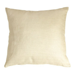 Pillow Decor - Pillow Decor - Tuscany Linen Cream 20 x 20 Throw Pillow - The Tuscany Linen 20 x 20 Throw pillows are 100% linen with a soft natural linen touch and texture. Available in a range of colors and sizes, these linen pillows are ideal solid color accent pillows for your bed or sofa. Mix and match to complement other accent colors in your home.