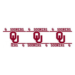Sports Coverage - NCAA Oklahoma Sooners Self Stick Wall Border - It's so quick and amazing, just peel and stick! Self-stick, removable, and reusable NCAA Oklahoma Sooners Wall Borders are the easy way to decorate and won't damage walls! Peel and Stick technology will adhere to any smooth surface. Washable and dry strippable. Colorful graphics are printed on durable, tear-resistant vinyl wall border in the repeating pattern shown. Size: 5 x 15' long per package. It's so quick and amazing, just peel and stick! Installation has never been so easy!