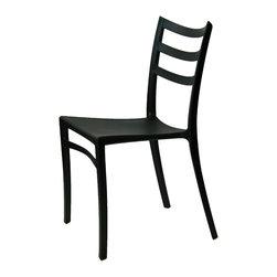 ARTeFAC - Stackable Modern Chair for Indoor/Outdoor in 6 Colours, Black - R-2015 Stackable Modern Chair for Indoor/Outdoor in Red